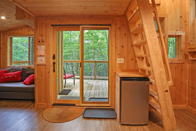 White Oak Treehouse Interior - Time spent amongst trees is never time wasted! Enjoy the Hocking Hills in our authentic treehouse accommodations  Hocking Hills Treehouse Cabins