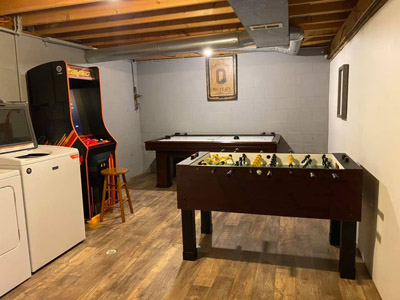 Lonesome Holler Game Room - Game Room Air Hockey, Foosball, Original 60 game Arcade System