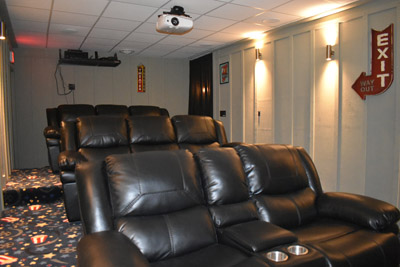 Theater Room - Live TV or DVD, enjoy the show!