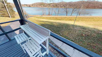 - Enjoy the beautiful view of the lake while relaxing on your generous deck.