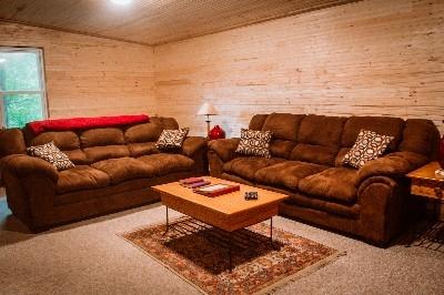 Living Room Cape Cod House - Living Room