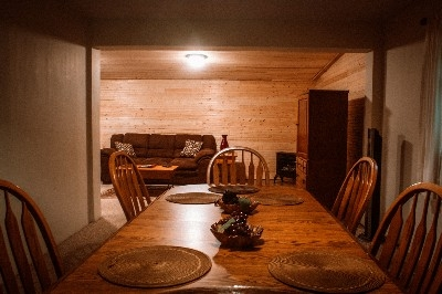 Head of Table View - Dining and Living Rooms