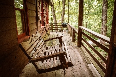 Porch at Rustic Cabin - Porch at Rustic Cabin