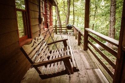 Porch at Rustic Cabin - Porch at Rustic Cabin