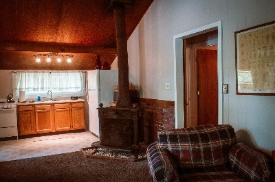 View of Fireplace - Centrally located in Kitchen and Living Room