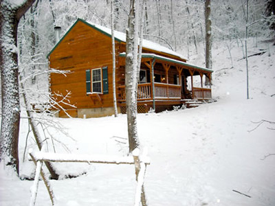 Cabin Front - Winter 2