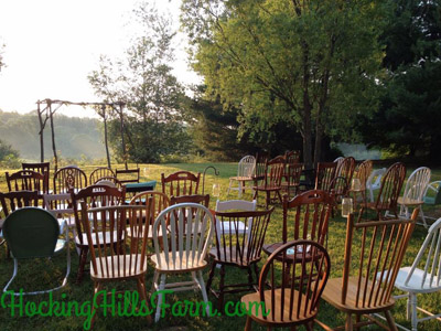 Farm Weddings - Come on down to the Farm and get married. More details at HockingHillsFarm.com