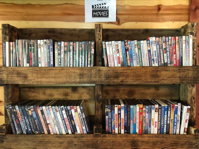 Game Room - wide selection of dvds