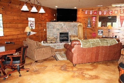 Fun Room - Whether sitting at watch a movie or playing foosball this area of the lodge id fantastic,