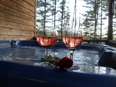 Hot Tubs - Hot tubs on covered decks at ALL cabins.