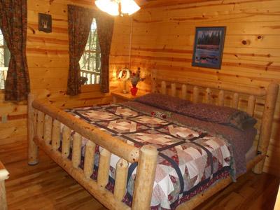 Cedar Pines King - King size log bed