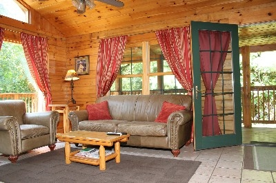 Living Room  - Living room located upstairs with an open floor plan.