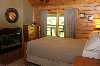 Queen Bed - One bedroom includes a queen bed.