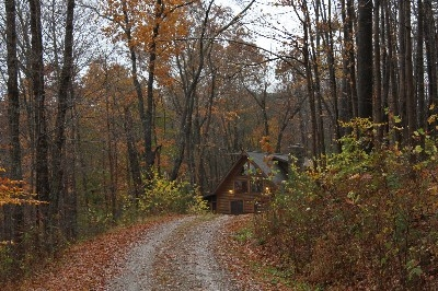 View- Oak Valley - Privately located on top a hill and requires four wheel drive in the winter!