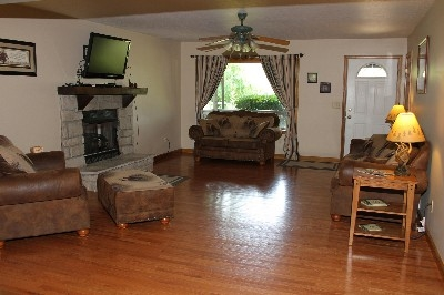 Living Room - Full living room with gas fireplace.