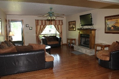 Living Room - One of two living rooms.  Gas fireplace.