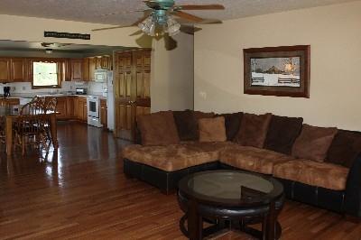 Living Room  - Full living room and kitchen.