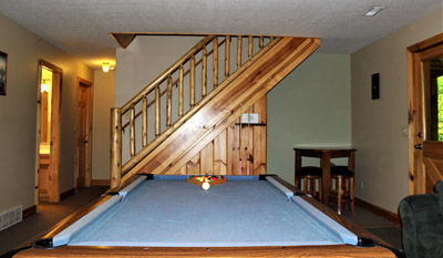 Pool Table - Pool table located downstairs.