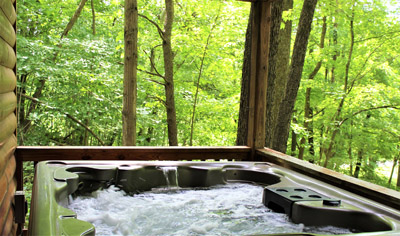 Hot Tub - Hot Tub on Covered Deck.