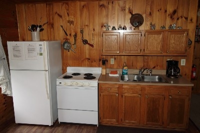 Kitchen at Sky View Cabin - Kitchen is well equipped - blender, mixer, toaster and everything you need to cook a great meal