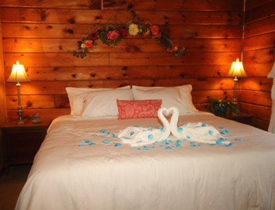King Size Bed - Amazing handcrafted wooden platform with mood lighting, plugs and USB ports. Luxury bedding and pillows.