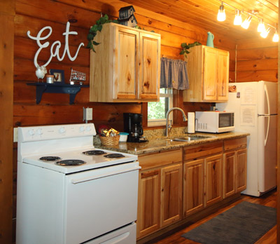Dot Calm Kitchen - Brand new well equipped kitchen. Fully stocked with pans, dishes, mixer, crockpot and so much more.