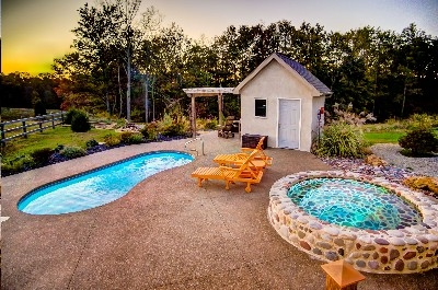 Amenities Galore! - Swimming, cold plunge, hot tub - Why not try them all!! See more at Cherryridgeretreat.com