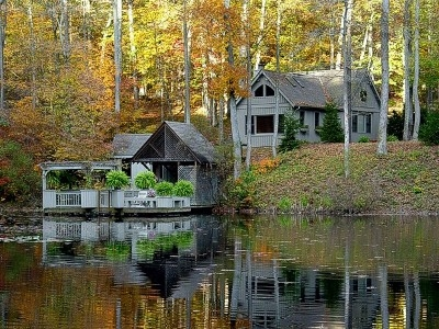 Boat House and Private Dock - Boat House and Private gazebo and Sauna on the Lake.  See more at Cherryridgeretreat.com