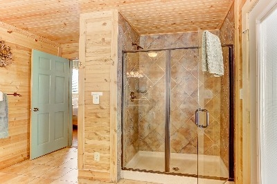 Boat House Shower - Gorgeous Bathroom at the Boat House, featuring Heated Floors!