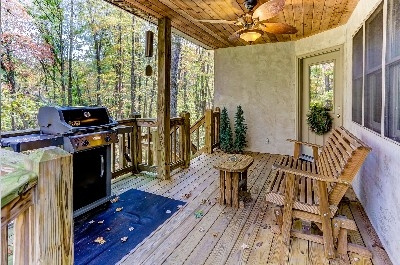 Whispering Pines Porch - See more at Cherryridgeretreat.com