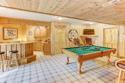 Lake House Game room - See more at Cherryridgeretreat.com
