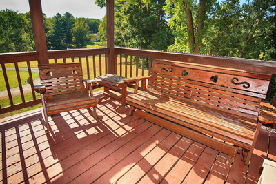 Hocking Hills Country Vista Cabins. - Amish Deck Furniture.