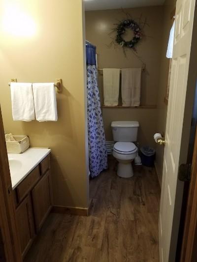 Bathroom - Full bathroom with full tub shower.