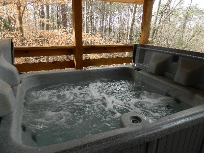 The Overlook - Hot tub on back deck.