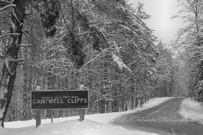 Cantwell Cliffs Entrance Sign -     For years this was my best shot of Cantwell Cliffs. It was easy enough to take, from my car window. It