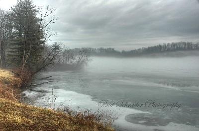 Ice Fog, Lake Logan - Unique sight one morning.