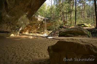 Ash Cave , A Wide View - This was from a series of test shots with a 10MM ultra-wide lens. I