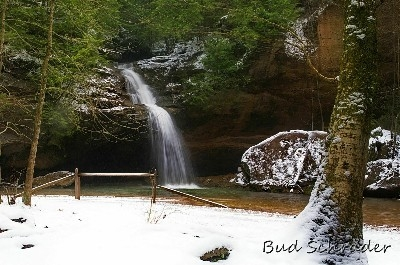 Lower Falls, Another Winter View - Is it Old Mans Cave, winter, or a waterfalls. Take your pick.