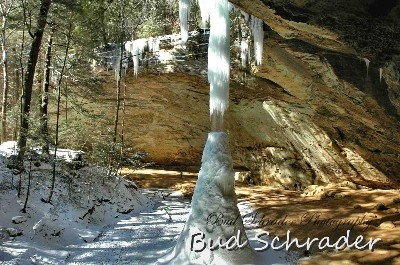 Ice Cone - The later shot of the cone that collapsed 2 days later. Sorry about the double signature.